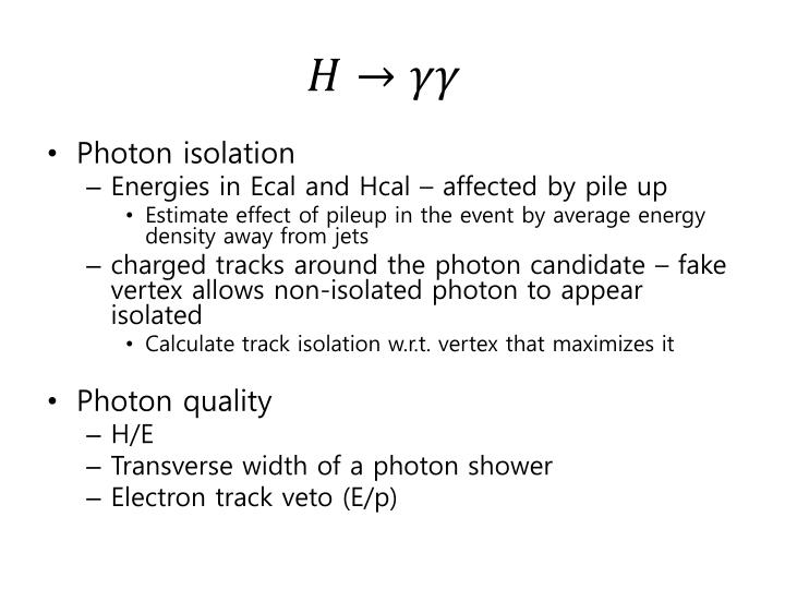 Photon isolation