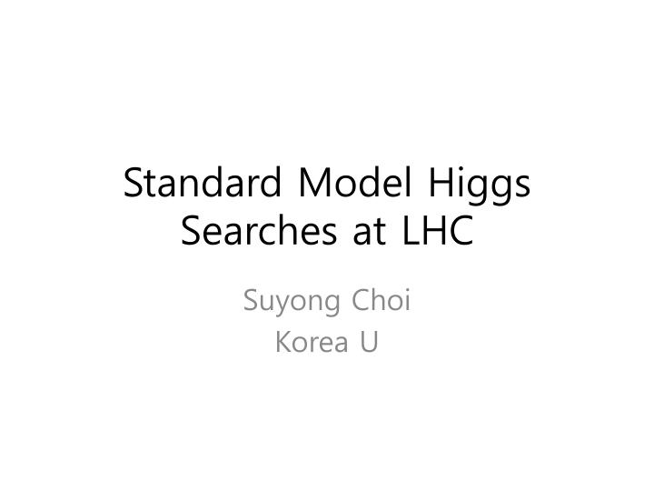 Standard model higgs searches at lhc