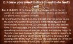 2 renew your mind to discern and to do god s will6