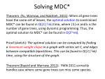 solving mdc2