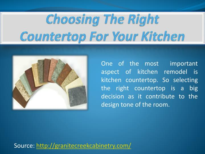 choosing the right countertop for your kitchen n.