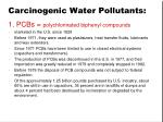 carcinogenic water pollutants