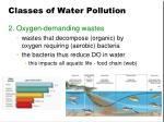 classes of water pollution1