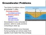 groundwater problems
