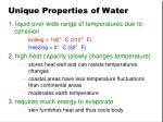unique properties of water1