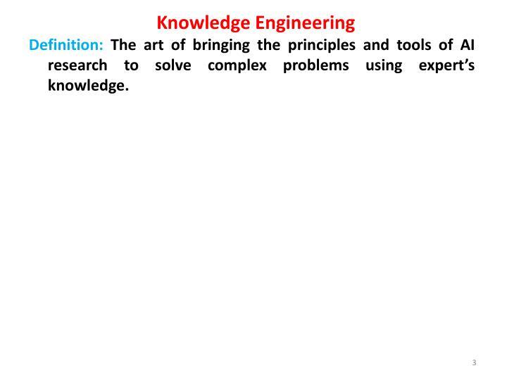 Knowledge engineering1