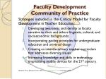 faculty development community of practice