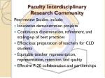 faculty interdisciplinary research community2
