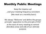 monthly public meetings