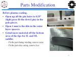 parts modification
