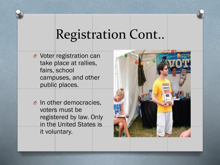 Registration Cont..