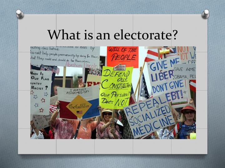 What is an electorate?