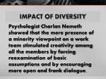 impact of diversity