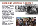 emerging nations e europe