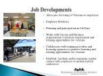 job developments