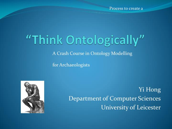 think ontologically n.