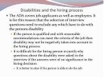 disabilities and the hiring process