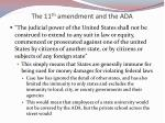 the 11 th amendment and the ada