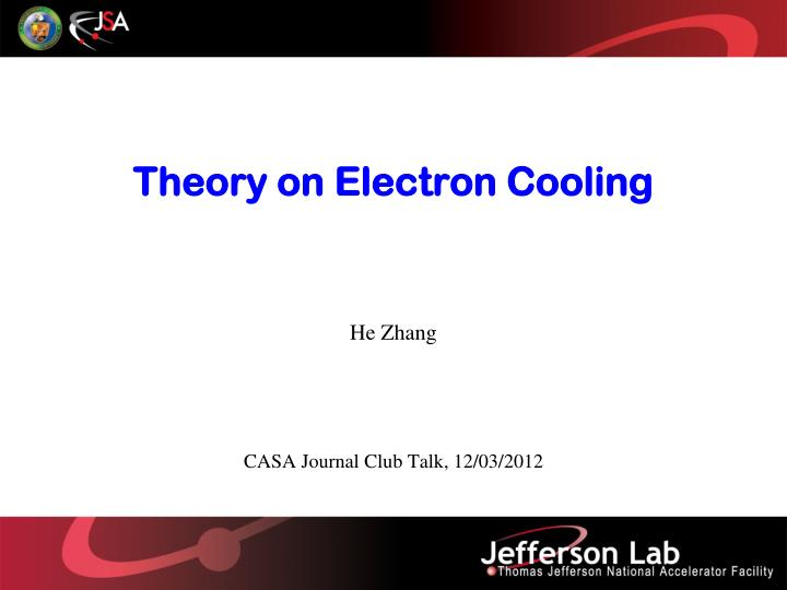 theory on electron cooling n.