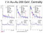 in au au 200 gev centrality