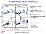 nuclear modification factor vs p t