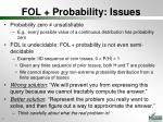 fol probability issues