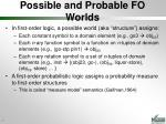 possible and probable fo worlds