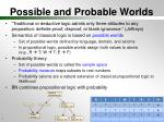 possible and probable worlds