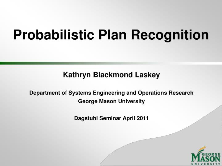 probabilistic plan recognition n.