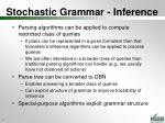stochastic grammar inference