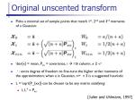 original unscented transform