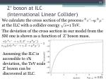 z boson at ilc international linear collider