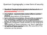 quantum cryptography a new form of security