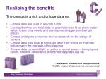 realising the benefits