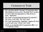 comment on truth