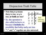 disjunction truth table