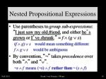 nested propositional expressions