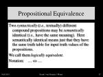 propositional equivalence