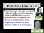 propositional logic 1 1