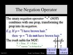the negation operator