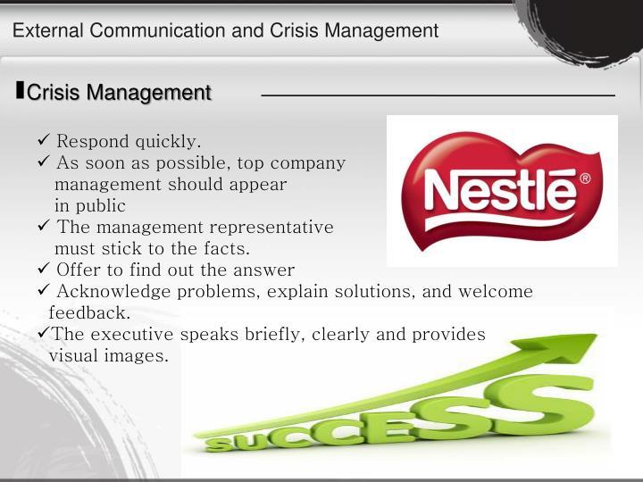External Communication and Crisis Management