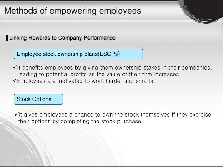 Methods of empowering employees