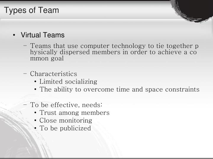 Types of Team