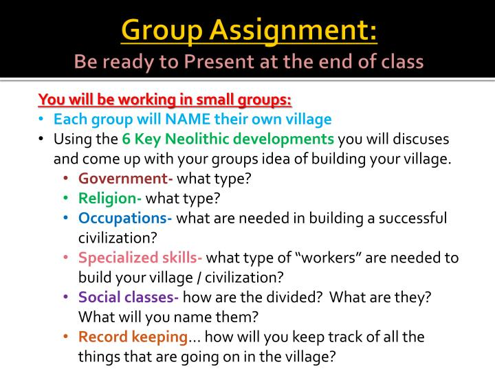 Group Assignment: