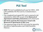 ple tool