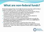 what are non federal funds