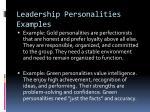 leadership personalities examples1