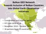 balkan geo network towards inclusion of balkan countries into global earth observation initiatives