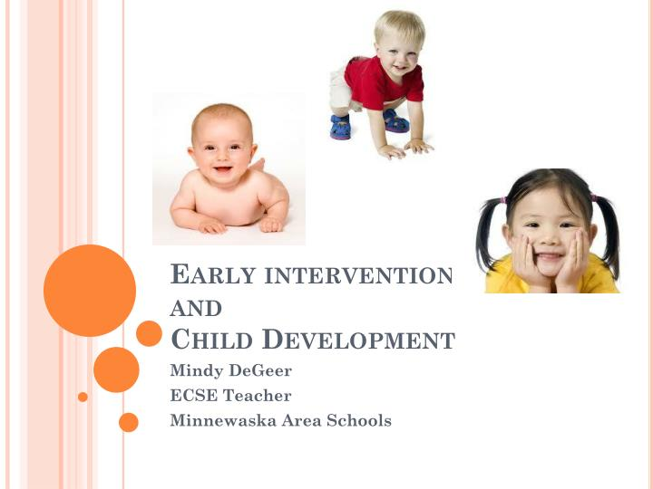 early intervention and child development n.