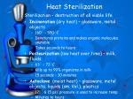 heat sterilization